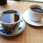 GAIA 食堂 - 三年番茶(400円)と玄米珈琲(400円)
