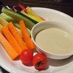 77370072 - 朝摘み野菜の和風バーニャカウダ