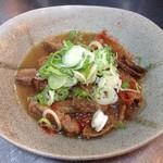 """食""""留麺 - 牛スジ"""
