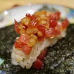 77375849 - 鮪とべったら漬けの手巻き寿司