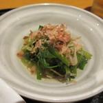 旬菜‐小豆 - セリのおひたし