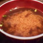あげづき - 【定食@360円+税】味噌汁。しじみ汁でした