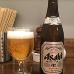 鳴龍 - 「瓶ビール(スーパードライ)500円