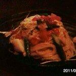 slow dining a.RISE - ホタテとアスパラとフレッシュトマトの塩味パスタ