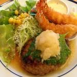キッチン TANKO - ハンバーグ&エビフライ(*^▽^)ノ♪
