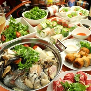 野菜ソムリエによる、ヘルシーな本格ベトナム料理をご提供◎