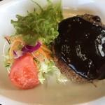 ファミリーレストラン ニューあぶくま - ハンバーグ&カレーライス(1100円) ハンバーグ