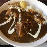 ファミリーレストラン ニューあぶくま - ハンバーグ&カレーライス(1100円) カレーライス