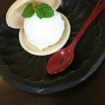 カフェ ナカクラ - 料理写真:出西生姜のジェラート