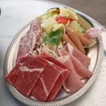 バーベキューガーデン - お肉と野菜の盛り合わせ