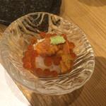 鮨 かなさ - 料理写真:ウニ&いくら