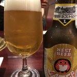焼肉ギュウミー - 常陸野ビール【ラガー】850yen。