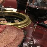 焼肉ギュウミー - ラブレ・ロワ ボージョレ・ヌーヴォー2017 グラス500yen。