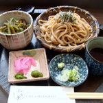 桜茶寮 - 山菜飯セット(玄米うどん)