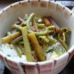 桜茶寮 - 山菜飯