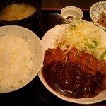 焼鶏 番番 - 鶏かつ御膳(850円)人気No.1