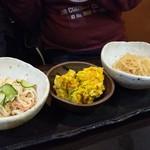 77404688 - さかえ庵_鴨と地鶏の鍋コース(京のおばんざいの盛り合わせ)