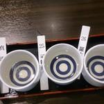 酒場 おか長 大阪駅前第3ビル店 - 日本酒飲み比べセット