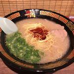 一蘭 - 料理写真:2017年12月03日  ラーメン+替玉 980円(超かた麺→カタでの提供)