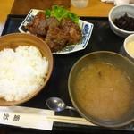 77407424 - 鮪のほほ肉ステーキ定食