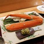 日本料理 太月 - 津居山のズワイ蟹浜茹
