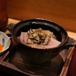 日本料理 太月 - いのししの黒トリュフ乗せ