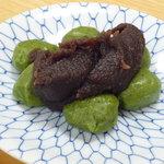 清水屋 - 草団子(一皿420円)☆とっても柔らかいお団子に、甘さ控えめの餡♪