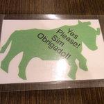 ブラジリアンレストラン コパ - 「まだまだ食べるぞ!」のサイン