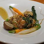 AU GAMIN DE TOKIO - ミニ野菜ソテーと白子のムニエル、アンチョビ ケッパーソース
