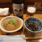 いな舟 - 料理写真:お通し/里芋味噌煮、ぜんまい煮