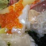 幸寿司 - びっくり丼大盛のアップ