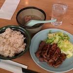 一心 - 牛たん焼定食(1350円)