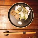 三種のとろろ天ぷら 揚げ比べ