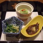 和食 紅葉 - 先付け 本日の旬采三種
