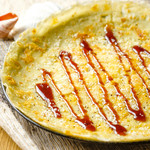 海鮮・かき・沖縄料理 わ - 3種のチーズ香るヒラヤーチー。