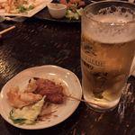 江戸屋 - 2017.10.26  エビマヨ、串揚げ、生ビール‼️