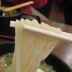 北海ラーメンすすき野 - 麺アップ