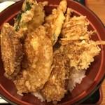 天金 - 野菜天丼700円