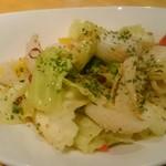 くすのき亭 - 松笠イカと野菜のピリ辛炒めペペロンチーノ風