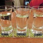 酒蔵 呑 - 地酒飲み比べA