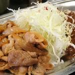 カレーの市民 アルバ 錦糸町店 - しょうが焼き合いがけカレー 770円