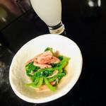 77433756 - 桜海老と小松菜の煮びたし