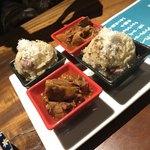 Jukuseinikubaruthimba - 和牛スジのポルト酒煮込み、お肉ポテサラ
