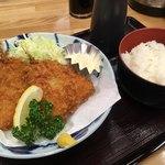 さかな屋すし 魚健 - 料理写真:アジフライとご飯
