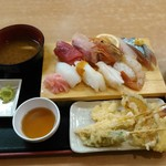 77438892 - 寿司 天ぷらランチ