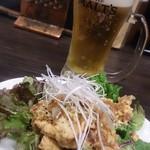 大阪王 京橋総本店 - 油淋鶏と生ビール