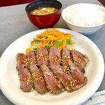 オレンジハウス - 牛タタキ定食 850円税込み