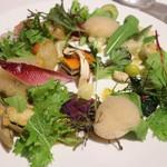 メゾン タテル ヨシノ - 前菜 季節の野菜 モネの庭園をイメージして