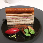 メゾン タテル ヨシノ - マロンのマルジョレーヌ カシスのソルベと共に