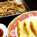 77452449 - ホルモン天ぷら(フク)・餃子♪